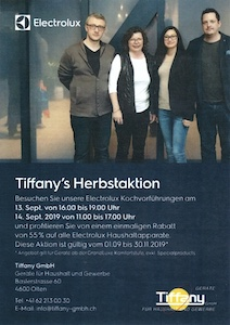Tiffany's Herbstaktion 2019